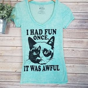 Grumpy Cat I had Fun Once It Was Awful T-Shirt